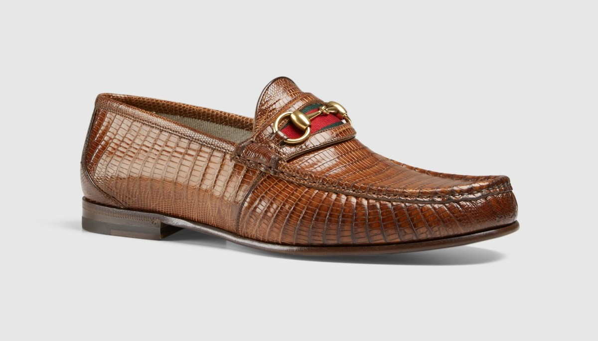 Men's Lizard Horsebit Loafer