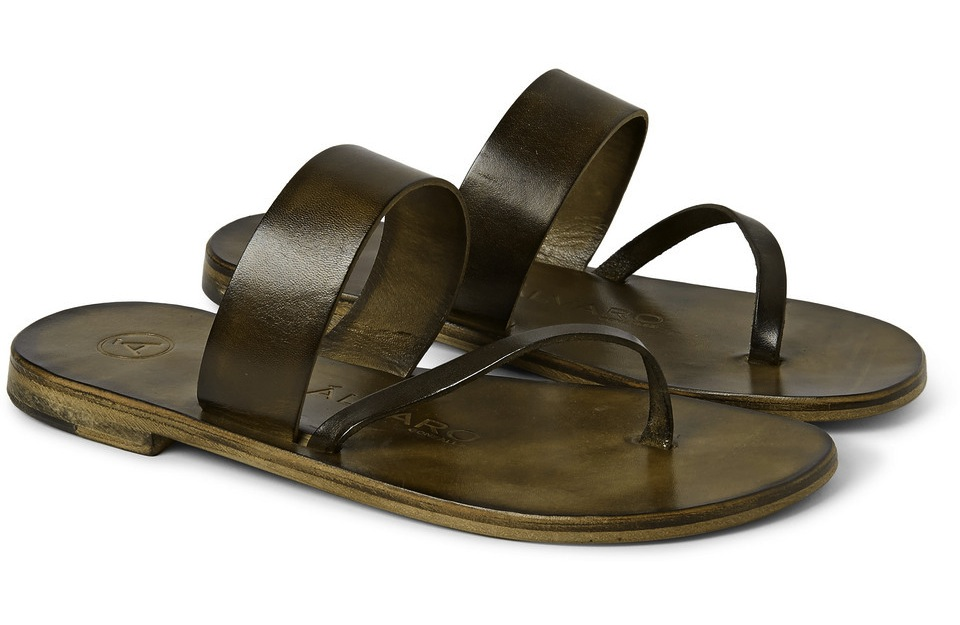 Alvaro Alberto Leather Sandals