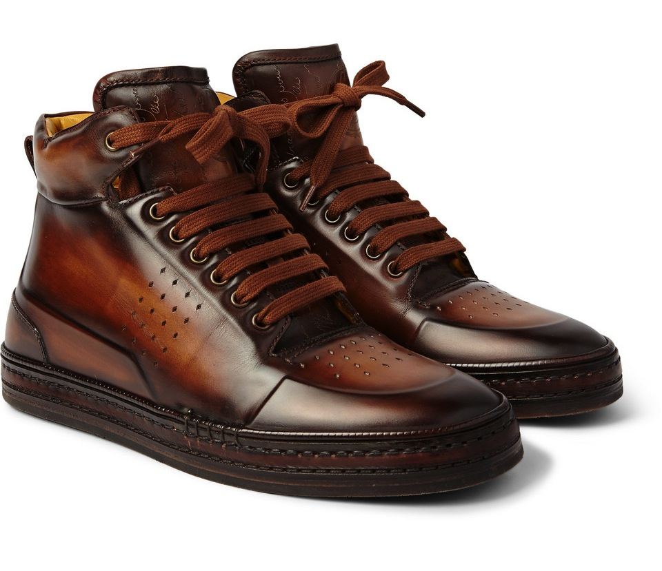 Berlutti Playtime Burnished Hightop