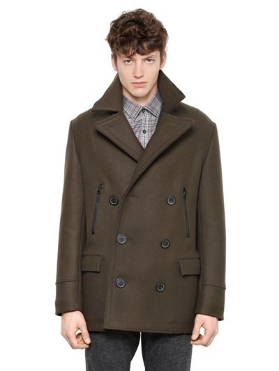 Lanvin Double Breasted Peacoat