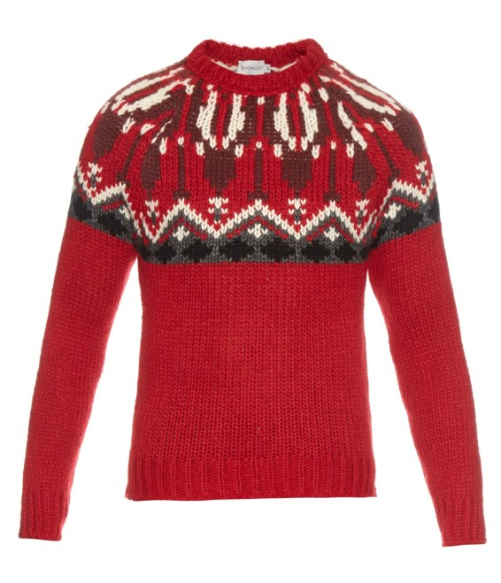 Moncler Wool And Alpaca Blend Sweater Red