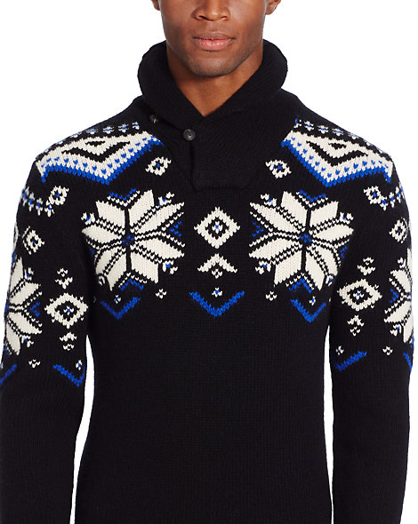Ralph Lauren Snowflake Wool Blend Sweater