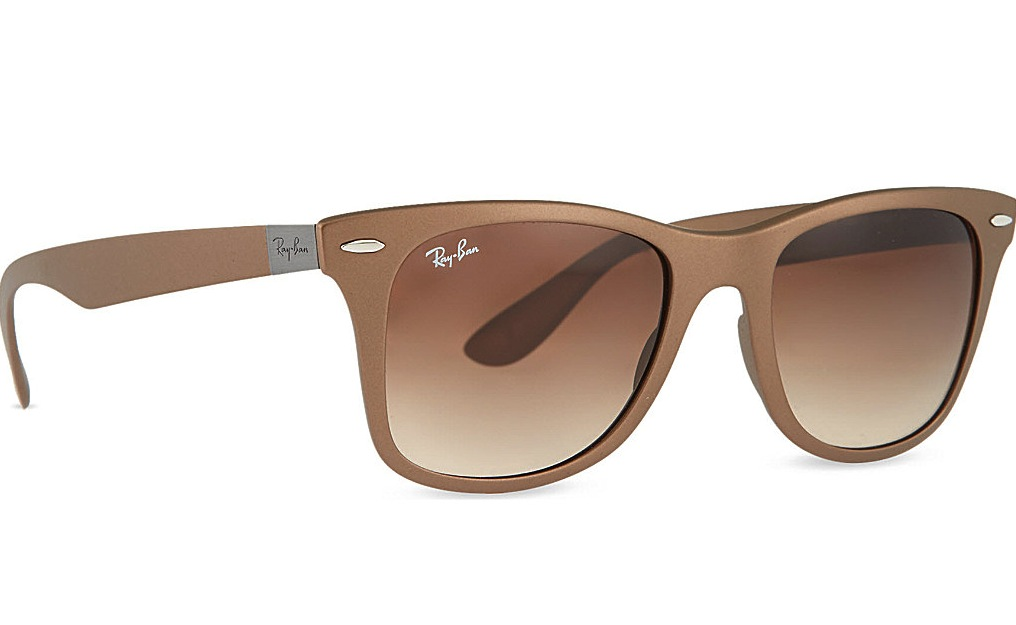 Ray Ban Matte Brown Wayfarer Sunglasses With Brown Tinted Lenses