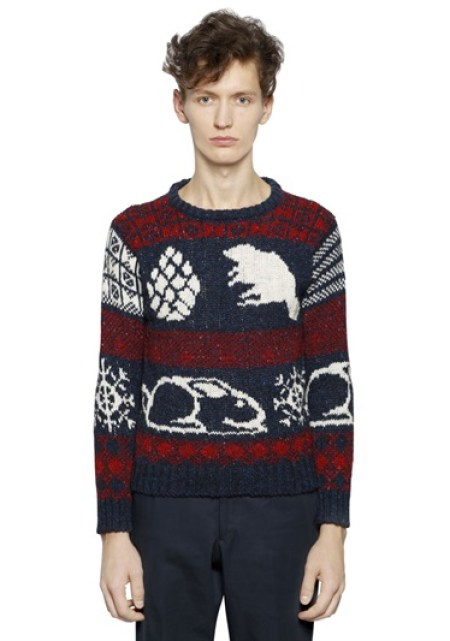 Thom Browne Wool & Mohair Blend Sweater