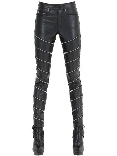 saint-laurent-zip-detail-leather-pants