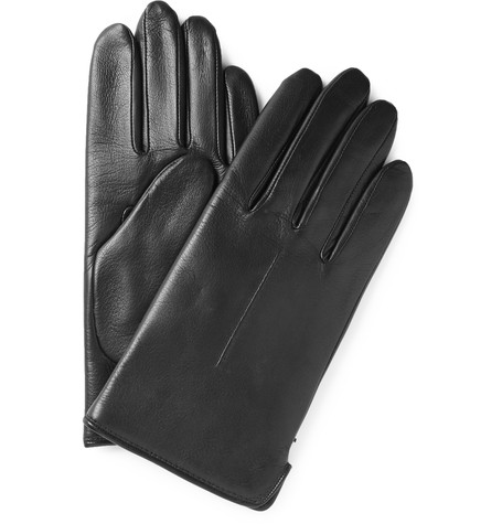 A.P.C Wool Lined Leather Gloves