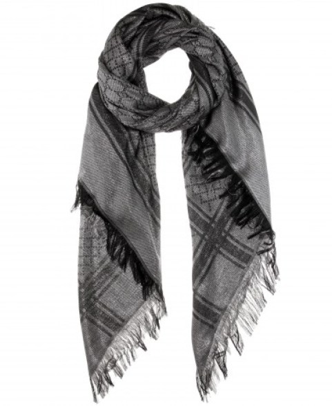 Gucci GG metallic wool and silk-blend scarf