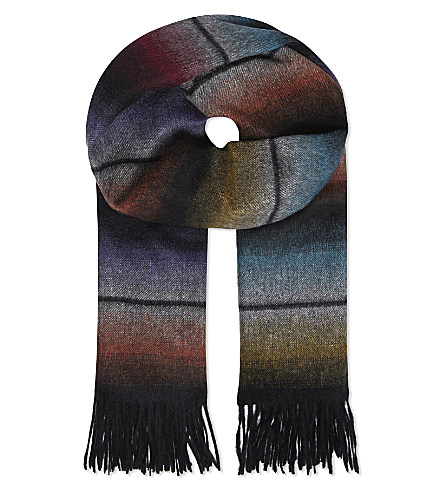 Paul Smith Rainbow Stripe Cashmere Scarf
