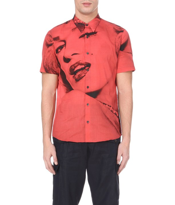 Dries Van Noten Cheney Marilyn Print Cotton Shirt