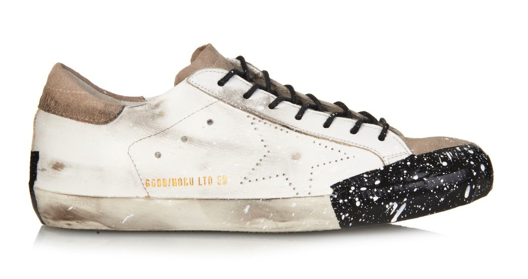 Golden Goose Deluxe Brand Paint Splatter Super Star Low Top Leather Sneakers
