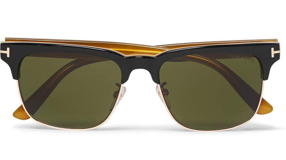 Tom Ford Louis Split Frame Acetate And Metal Sunglasses