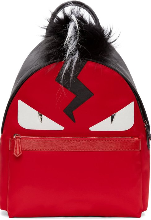 fendi_red_black_fur_trimmed_monster_backpack
