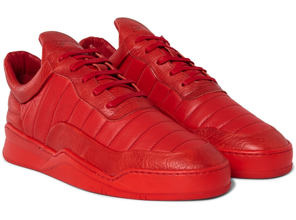 Filling Pieces Low Top Fuse Leather Sneakers
