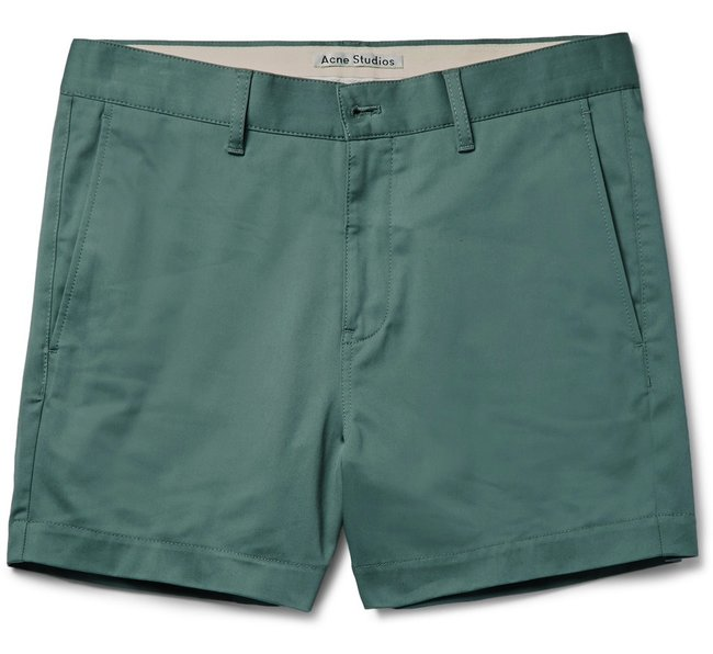 acne_studios_seymour_satin_slim_fit_stretch_cotton_chino_shorts