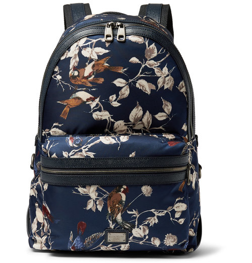 dolce_and_gabbana_printed_leather_trimmed_satin_backpack