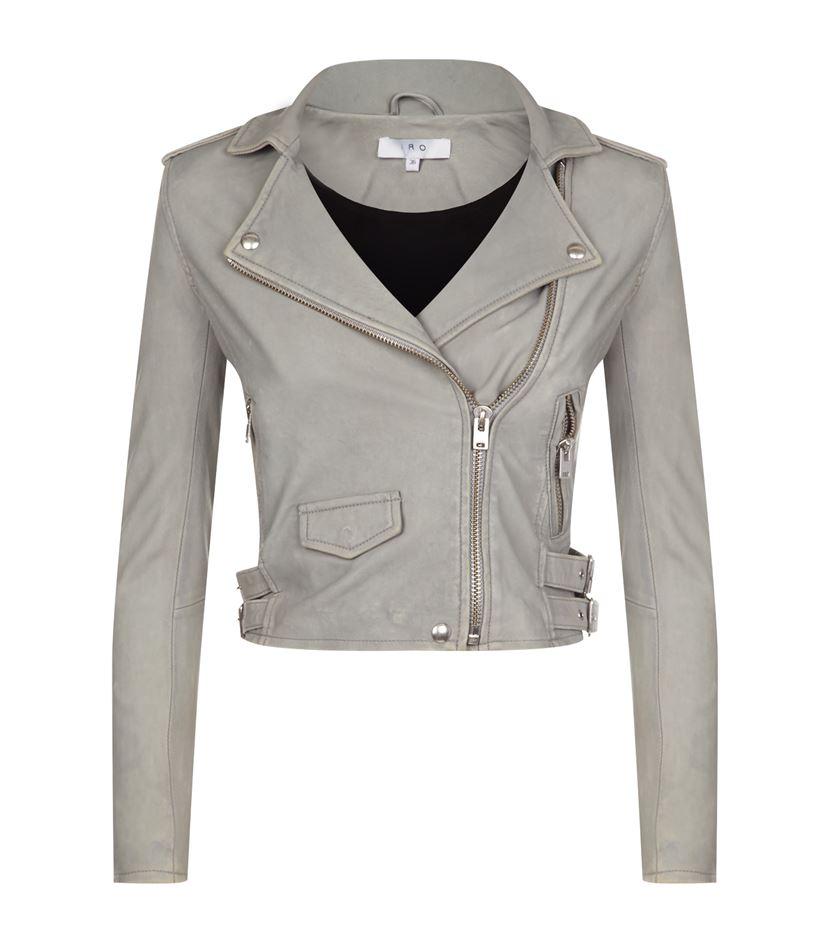 iro leather jacker grey