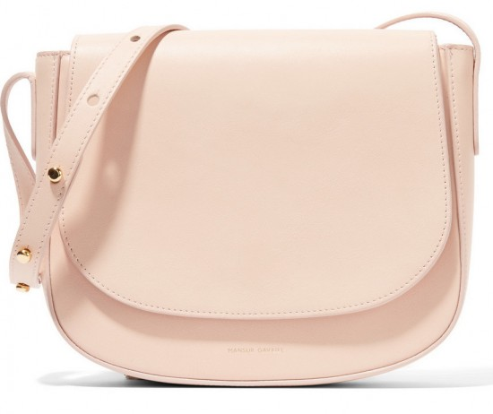 mansur gavriel leather shoulder bag