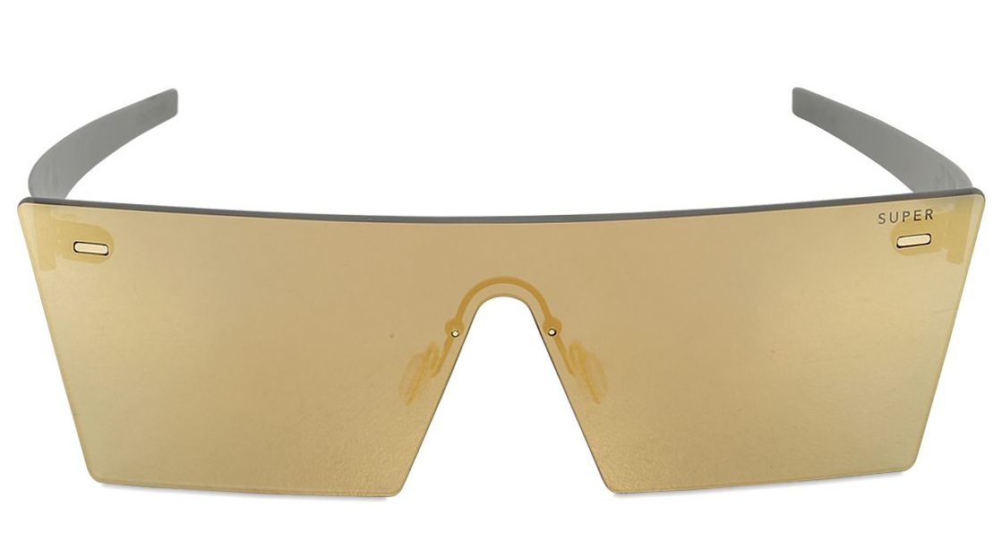 Super Squared Acetate Gold Sunglasses