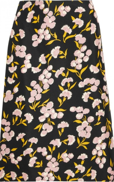 marni floral print cotton silk blend faille skirt