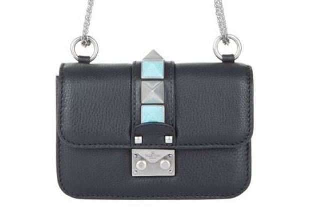 valentino mini native couture lock bag
