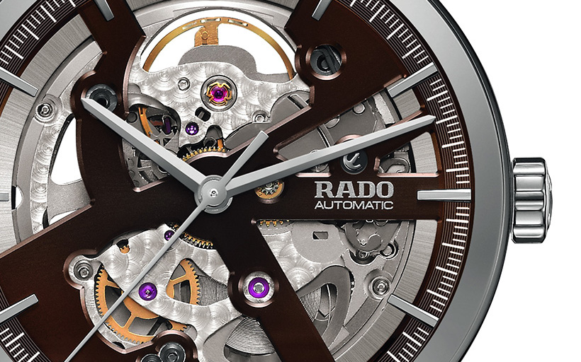 Rado Centrix Chocolate Brown Skeleton Open Heart
