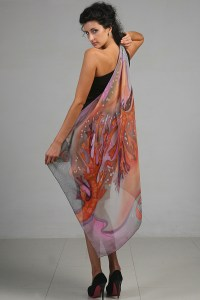 Hand Painted Silk Scarves and Shawls  Fashionable the