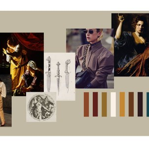 Mood board and color story