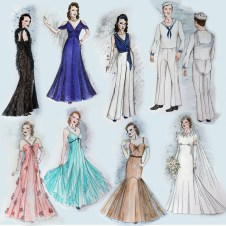 Variety of Costume Sketches for the Musical Anything Goes