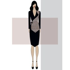Two layered dress, pleated at the bottom