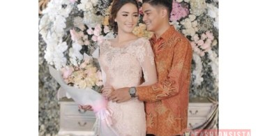 Baju Kebaya Couple Brokat Payet Transparan Soft Pink