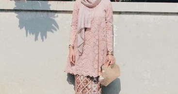 Kebaya Brokat Modern Model Tunic Cream