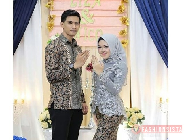 Model Baju Kebaya Couple Terbaru Warna Silver Fashionsista Co