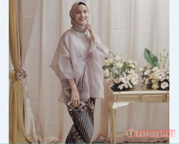 Model Kebaya Modern Blouse Coklat Susu Fashionsista Co Model
