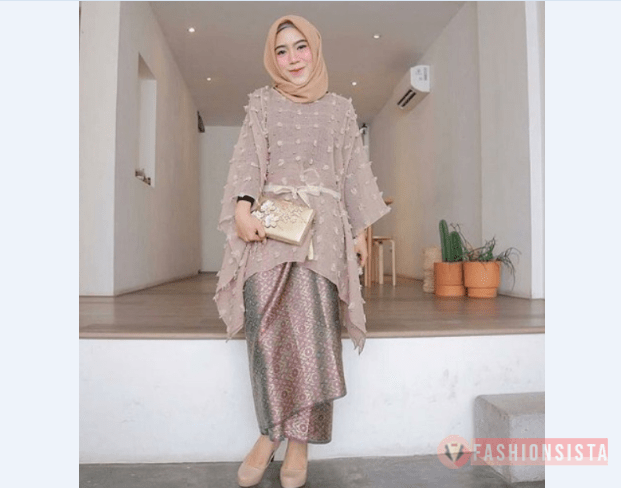 Model Kebaya Modern Blouse Tile Coklat Susu Fashionsista Co