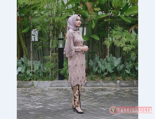 Model Kebaya Modern Panjang Tile Ungu Tunik Fashionsista Co