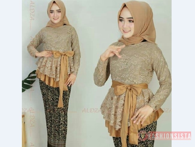 Model Kebaya Modern Peplum Mocca Coksu Fashionsista Co Model