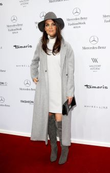 Katie Holmes Wears Marc Cain Fall 2015 Fashion