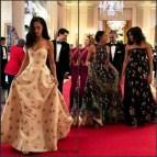 Sasha and Malia Obama Dresses State Dinner