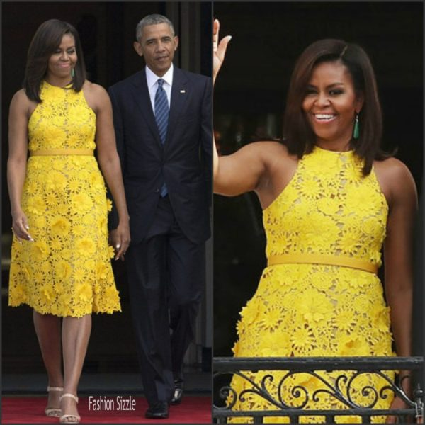 Michelle Obama Naeem Khan Yellow Dress