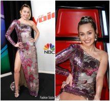 Miley Cyrus In Cristahlea Voice Finale - Fashionsizzle