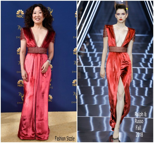 Sandra In Ralph And Russo 2018 Emmy Awards