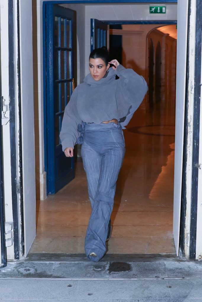 Kourtney Kardashian Attends Yeezy Fall 2020 in Paris ...