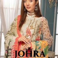 Johra Chikankaari Embroidered Lawn Spring Summer Luxurious Collection 2021 with Chiffon Dupatta Cotton Trouser with Price Buy Online