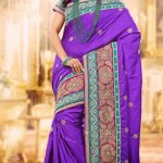 Indian Party wear embroidered saree dress for girls