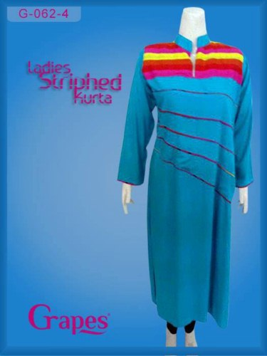 GRAPES The Brand STRIPE KURTA Collection for Eid (5)