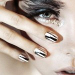 Party nails black and white designs for girls 2013
