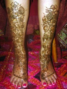 leg mehndi designs for girls