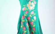 Grapes Flower Print kurta collection 2013-2014 for girls and women (2)