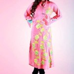Grapes Flower Print kurta collection 2013-2014 for girls and women (5)