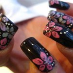 Fall 2013 Beautiful Black Style Nails Design Collection (8)
